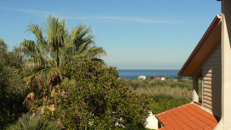 La vista sul mare dalla terrazza superiore. Vista sul mare