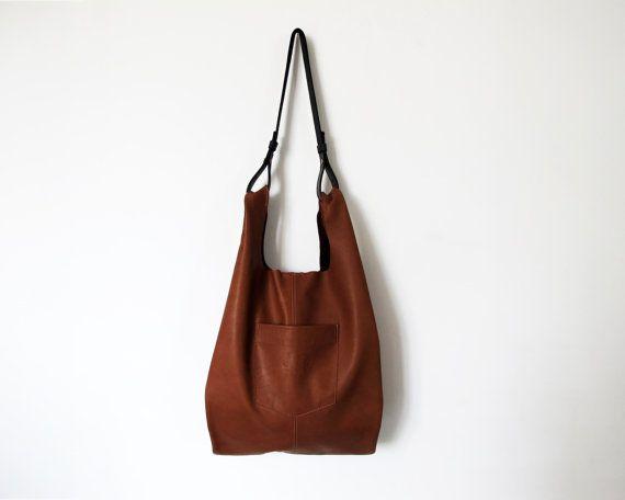 e1d5c55bb0c Tobacco brown leather bag - leather tote bag - women bags SALE soft leather  bag - leather handbag - handmade bag- leather shoulder bag