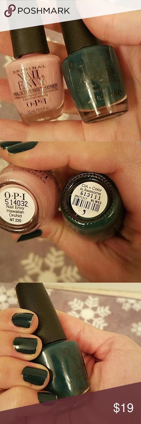 OPI nail envy and CIA=color is awesome   Nail envy, Opi nail envy ...
