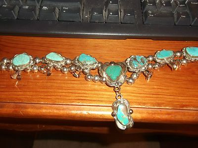 Turquoise Mexico Silver Necklace