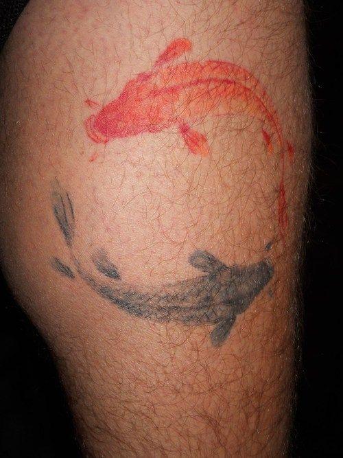 watercolor-tattoo-design-koi-fish-yin-yang.jpg 500×667 pixels ...