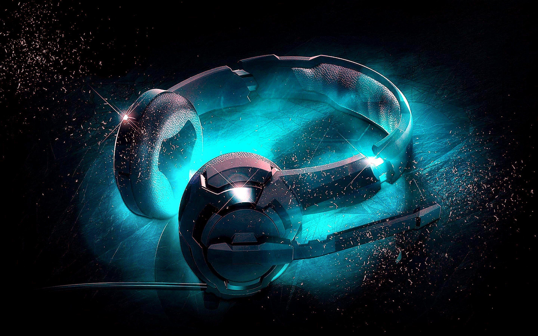 Music Headphones Digital Cgi Opus Blue Headset Headphone