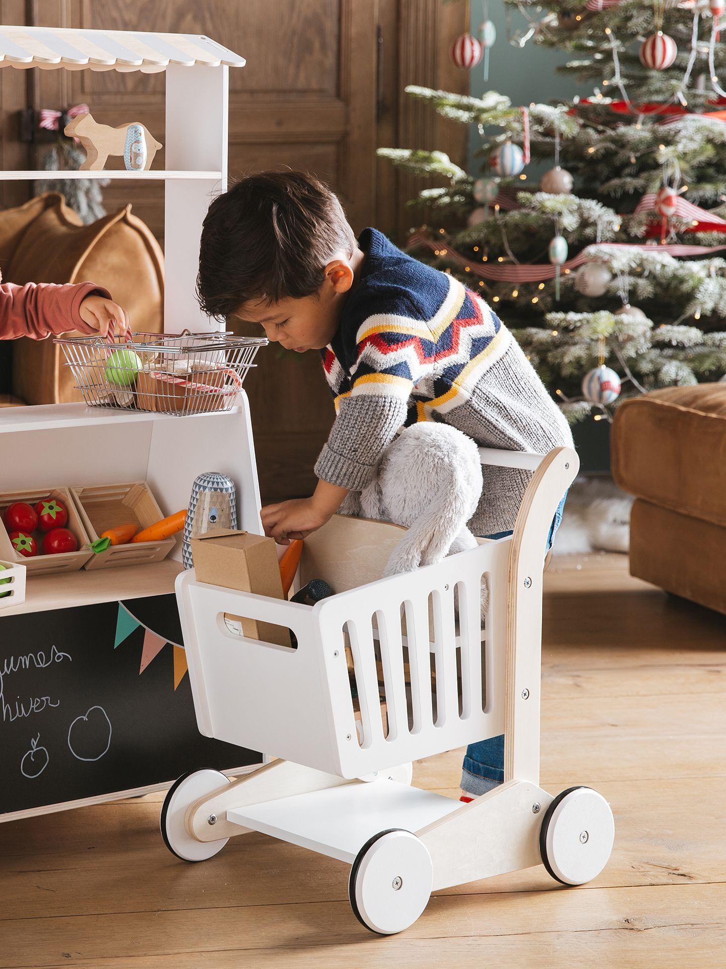 Chariot De Course Shopping Trolley Wooden Toddler Bed