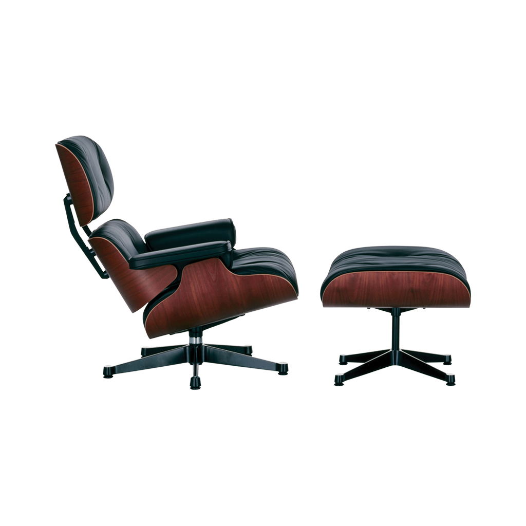 Outstanding Tall Eames Lounge Chair Ottoman Black Leather Cherry In Andrewgaddart Wooden Chair Designs For Living Room Andrewgaddartcom