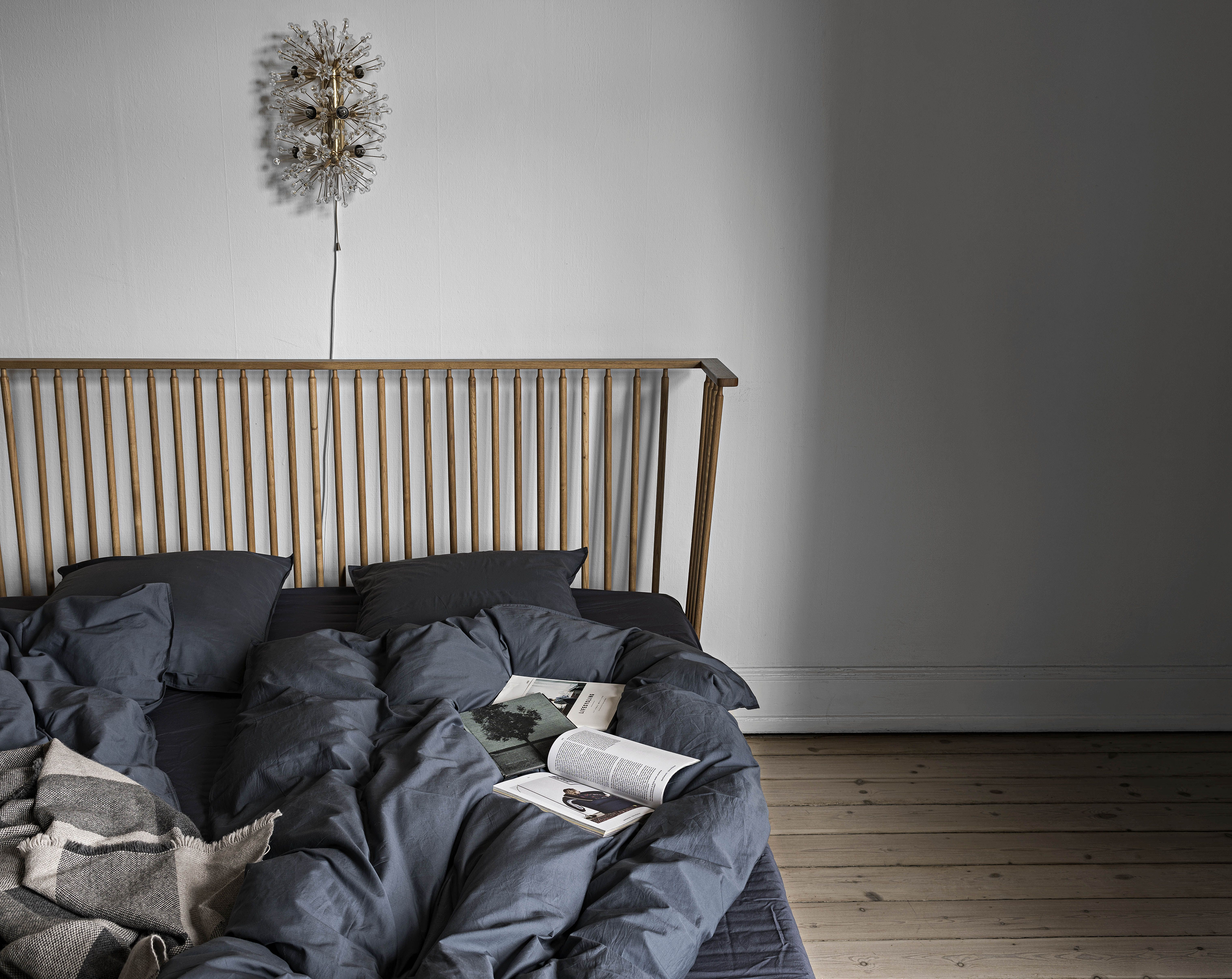 Midnight Dark Blue Bedlinen From Aiayu Styled On An Ilse Crawford Bed Bed Linens Luxury Luxury Bedding Bed