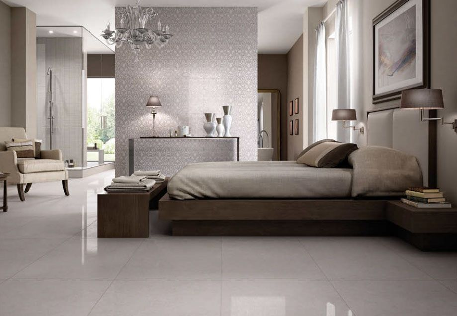 Portugal By Fine In Bianco Available In 12x24 And 24x24 Colored Body Porcelain Floor Tile Www Galleriastone Com Tile Bedroom Bedroom Flooring Luxury Tile