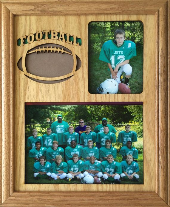 Sports Picture Frame Holds 5x7 And 3x4 Photos Etsy Football Pictures Football Decorations Individual Sport