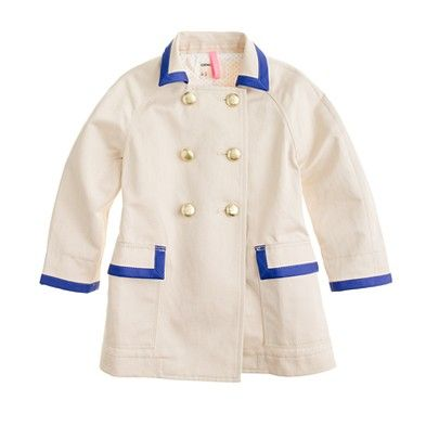 Girls' on-a-stroll trench coat