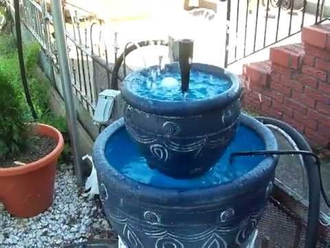 HOW MAKE A CHEAP $$$ GARDEN FOUNTAIN   YouTube