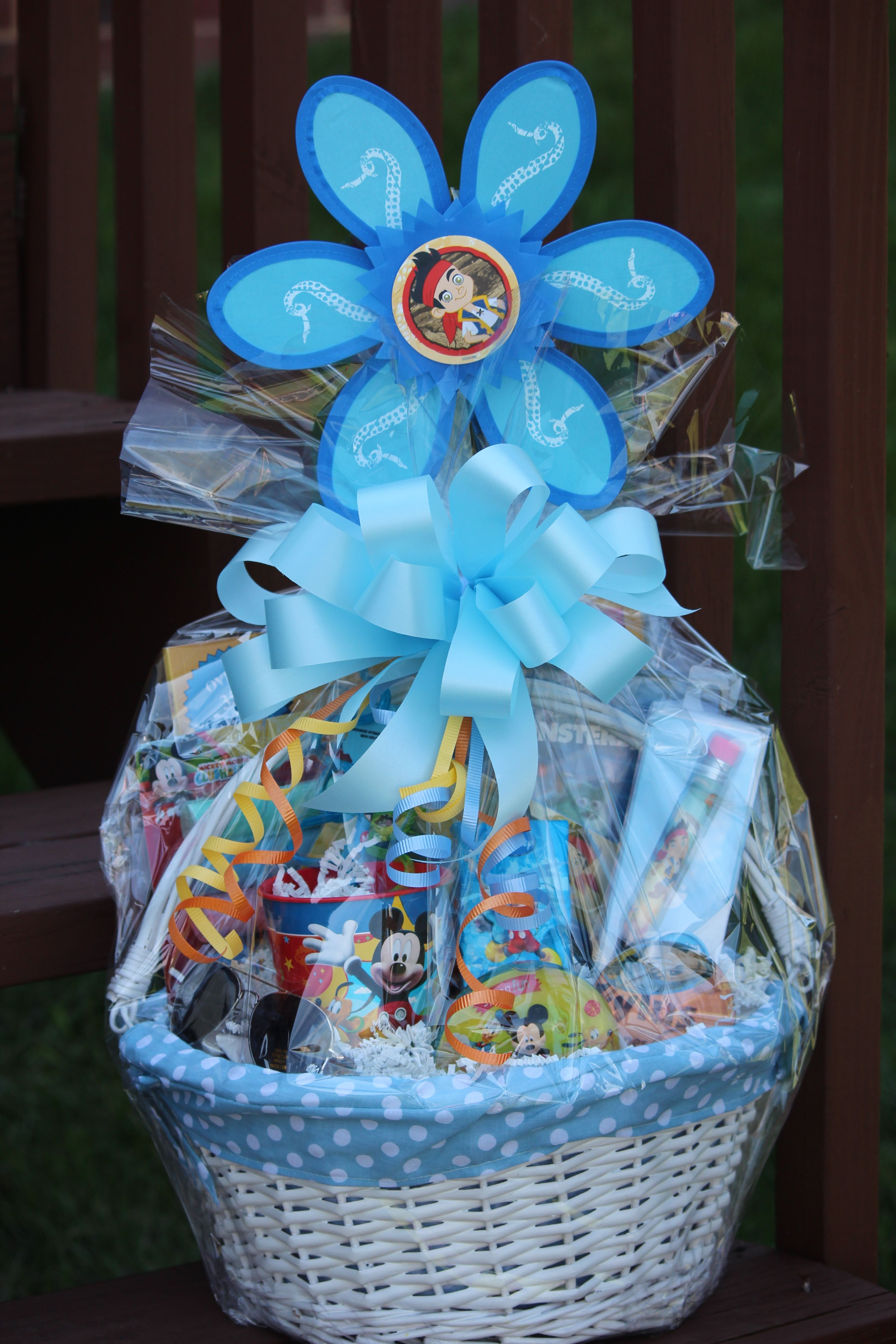 Going to disney in april desing your childs easter basket to be in honor of our upcoming trip to disney i designed the kids easter baskets to reflect an all about disney negle Image collections