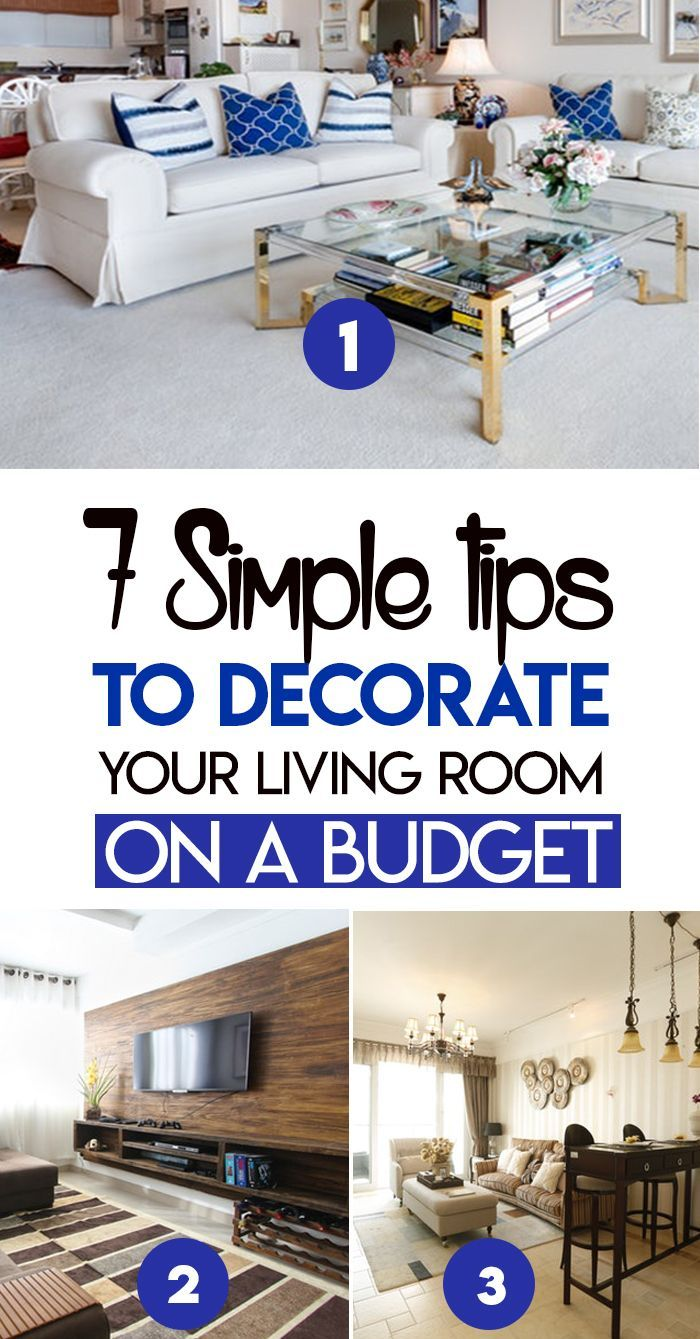 7 Simple Tips to Decorate Your Living Room on a Budget ...