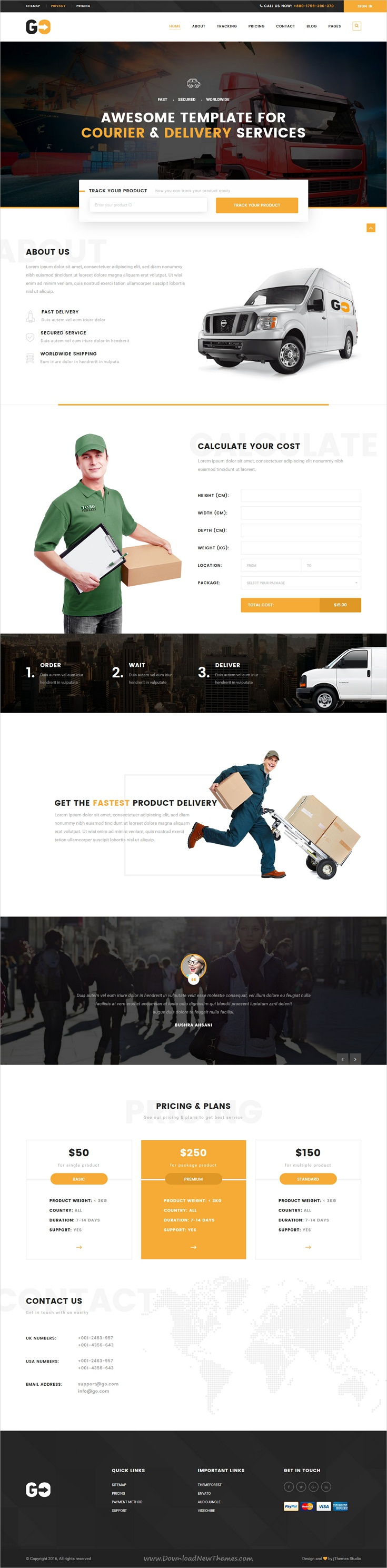 GO – A Courier & Delivery Service HTML Template | Template