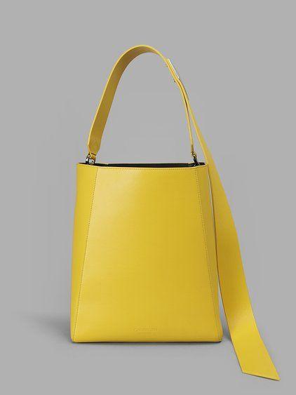 CALVIN KLEIN 205W39NYC CALVIN KLEIN 205W39NYC WOMEN S YELLOW BUCKET BAG.   calvinklein205w39nyc  bags   7af2570bdf