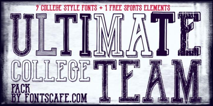 Download Ultimate College Team font download | College, Font shop ...