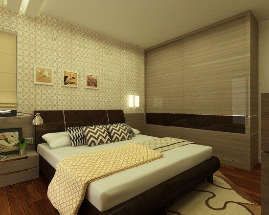 Dezign Up Photo Modern Bedroom With High Gloss Laminate On The Sliding Wardrobe Interior Modern Bedroom Interior Design