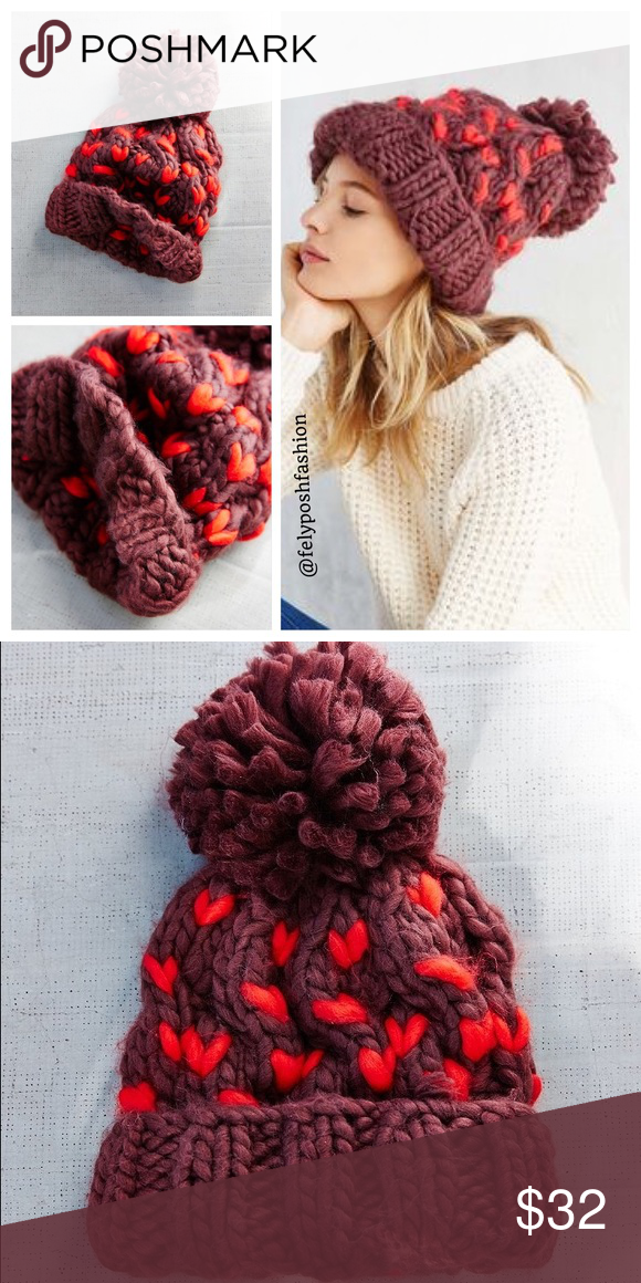 Urban Outfitters Birdseye Oversized Chunky Beanie Urban Outfitters Birdseye Oversized Chunky Beanie Chunky cable knit beanie hat with ribbed foldover edge and pompom trim. Super thick to keep you extra warm. Brand New With Tag   Acrylic Hand wash Imported Size Height: 10″ Width: 11″ Urban Outfitters Accessories Hats