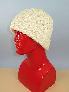 708802c5c81 Chunky 2x2 Rib Cuff Fishermans Rib Beanie Hat pattern by Christine ...