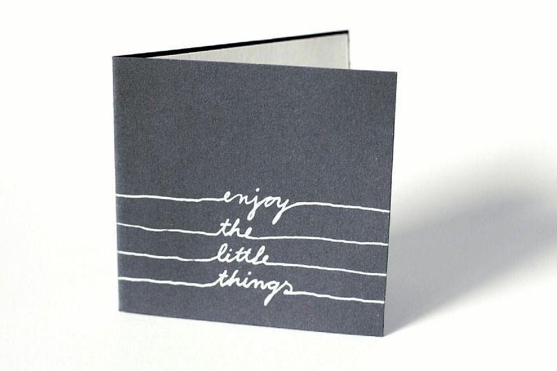 'enjoy+the+little+things'+Klappkarte+Handzeichnung+von+ne,no+berlin+auf+DaWanda.com