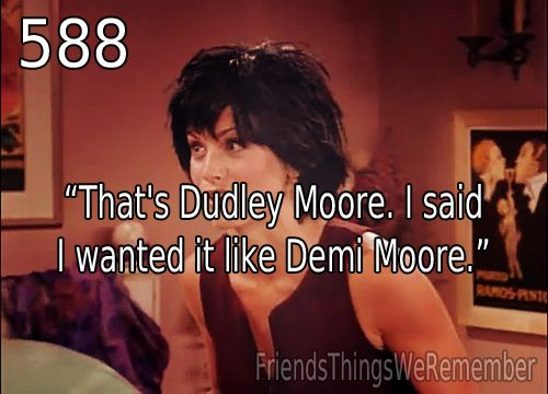 Phoebe gives Monica a Dudley Moore haircut :D ~ Friends: Season 2, Episode 1 ~ The One with Ross's New Girlfriend