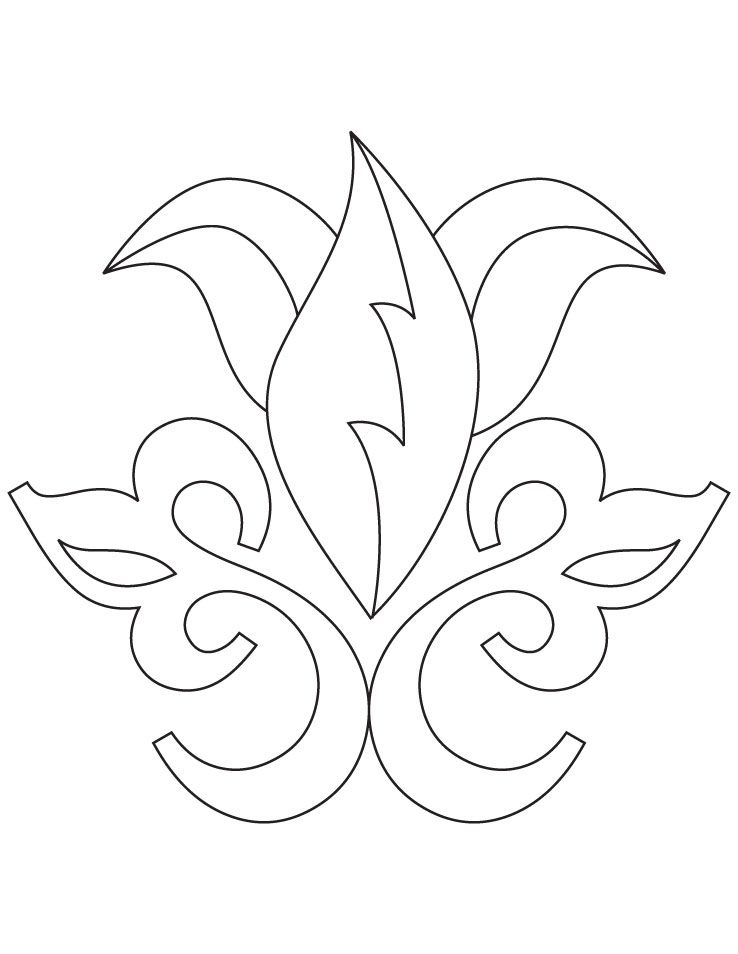 Rangoli Coloring Pages For Adults : Rangoli coloring page download free floral