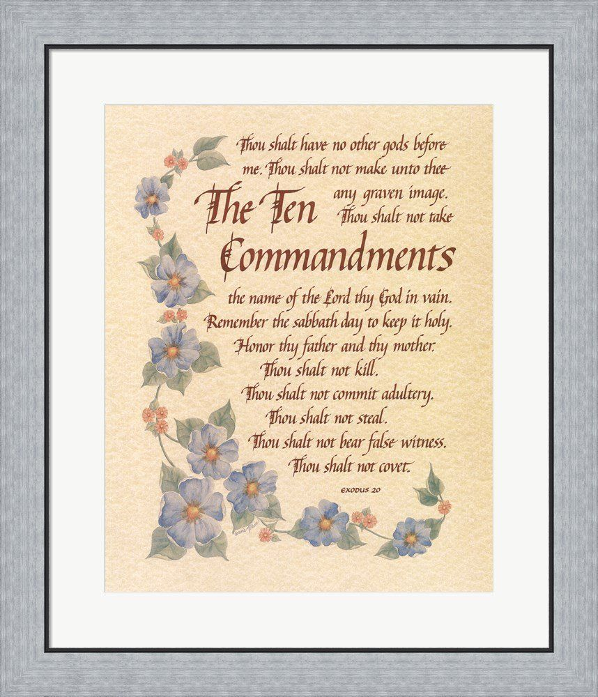 The Ten Commandments By Carol Tribou Framed Art Print Wall Picture