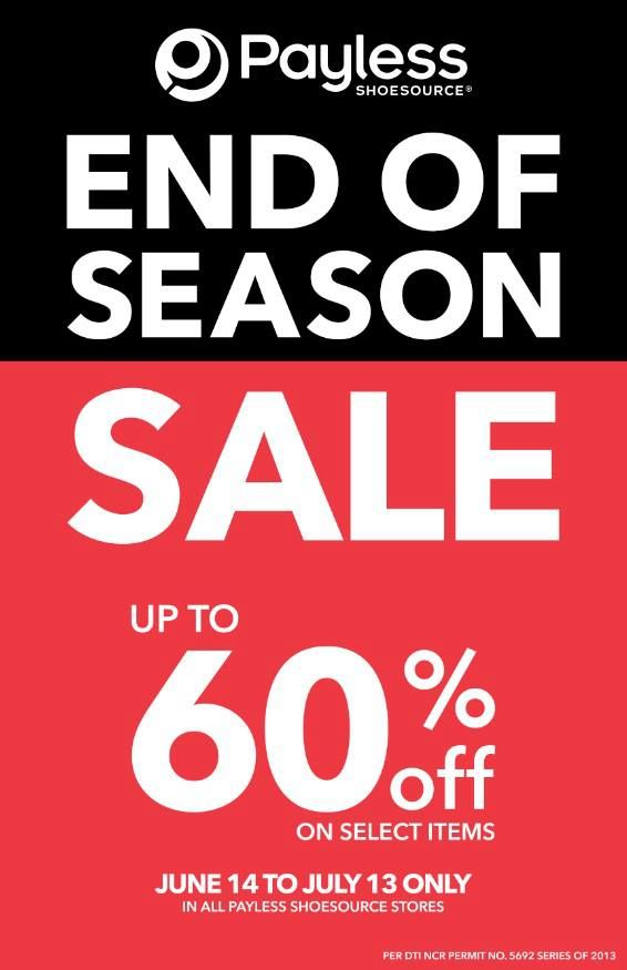 Payless Shoesource End of Season Sale