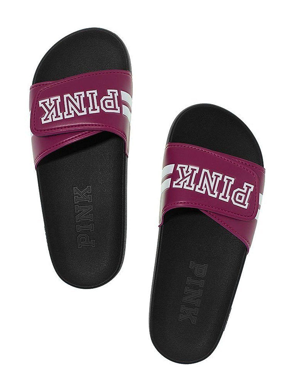 Victoria's Secret Pink Crossover Slides Wine Purple Medium (7-8)