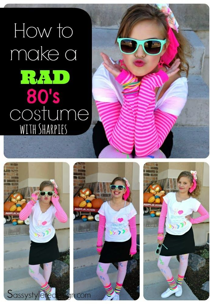 80\'s costumes for kids | How to make a RAD 80\'s costume with ...