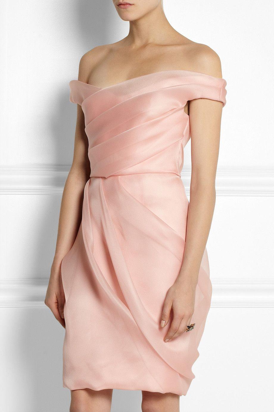 Lela Rose | Pleated silk-organza dress | NET-A-PORTER.COM | Este ...