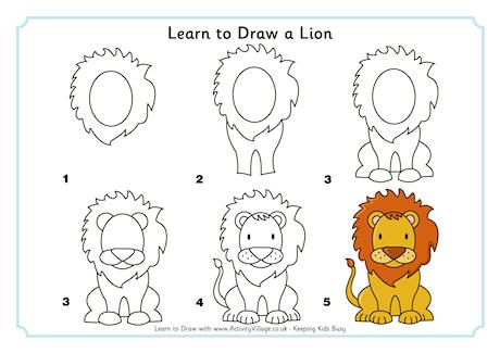 Cute Easy to Draw lion | Learn to Draw a Lion - Log in or Become a ...