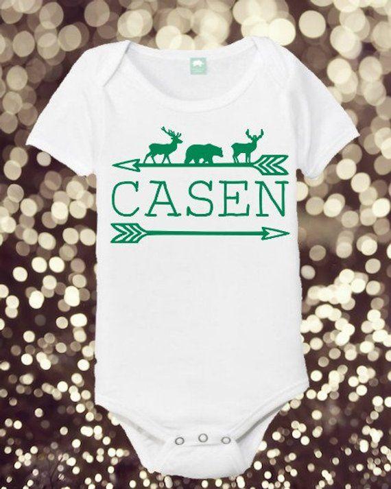 157e6a6ea Name Onesie - Woodland Themed Onesie - Boy/Girl Woodland - Baby Shower Gift  - Baby Onesie