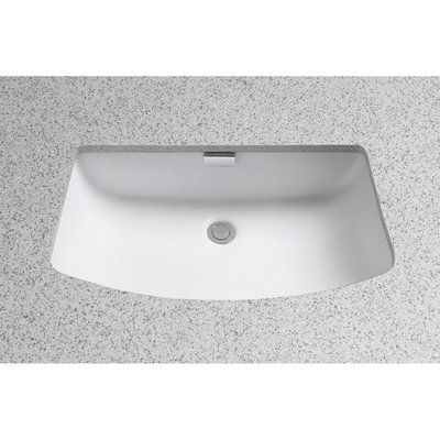 Toto Soiree Ceramic Rectangular Undermount Bathroom Sink With Overflow Sink Finish Colonial White Sink Undermount Bathroom Sink Undercounter Sink
