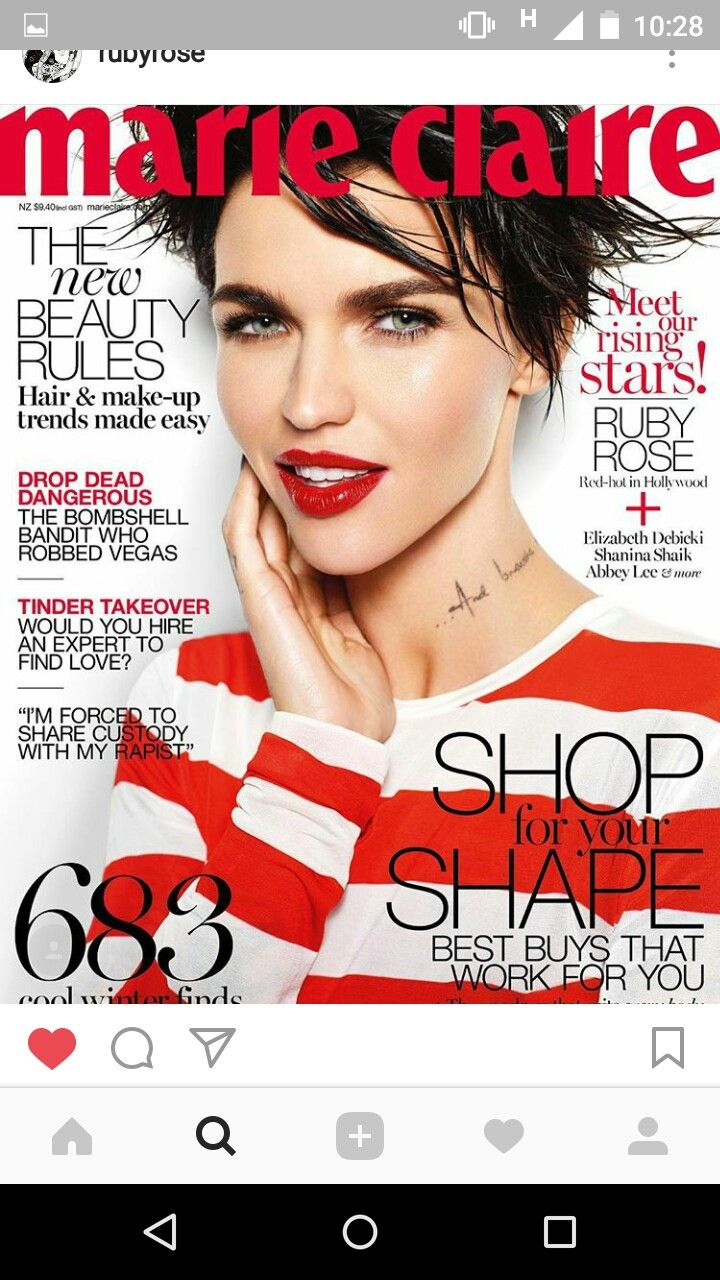 Pin by Sreerupa Das on Ruby Rose Ruby rose, Marie claire
