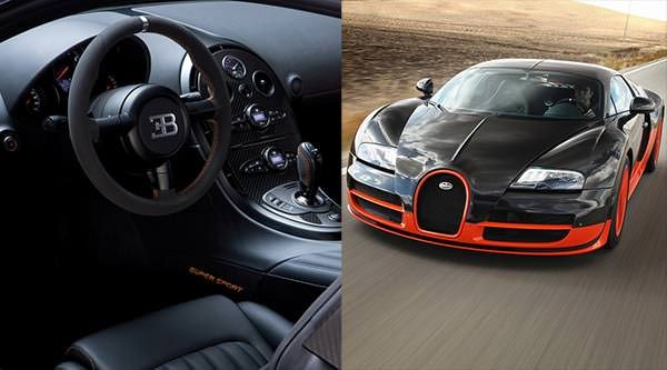 3. Bugatti Veyron Super Sport = Velocidade Máxima: 431 km/h