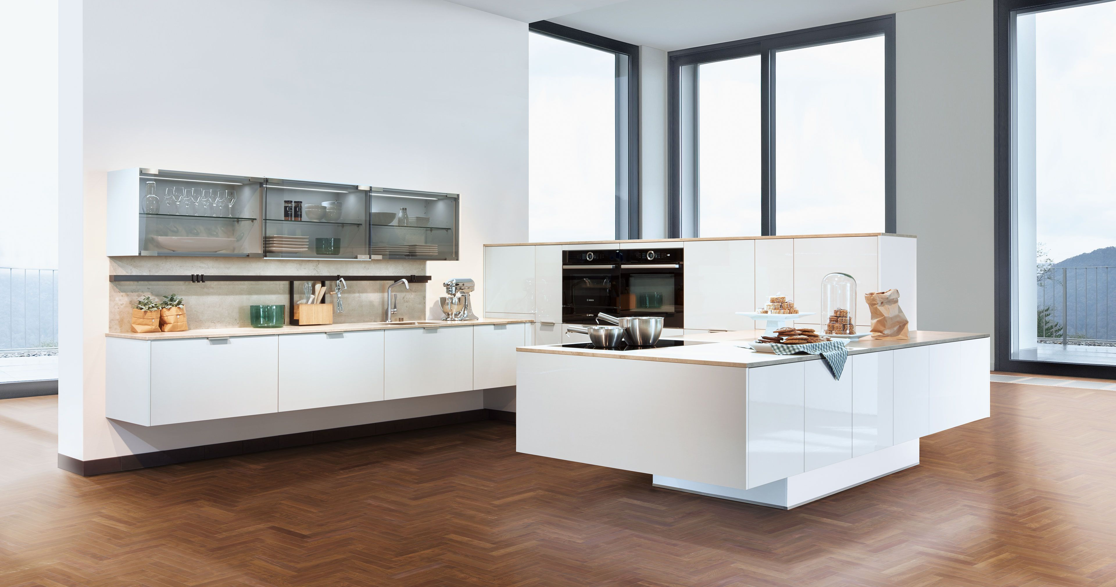 From Our Affordable Kitchen Line Good Taste Is Not A Question Of Price Riva Shines In A Neutral Light Grey The Sur Zeyko Kuchen Moderne Kuche Kuchen Design