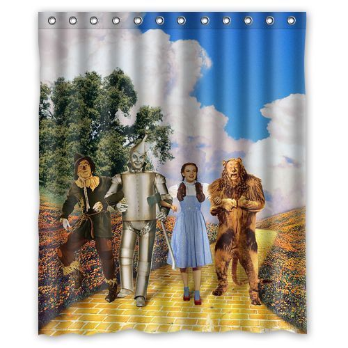 Wizard Of Oz Shower Curtain 60x72 Inch With Hooks Fabric Shower