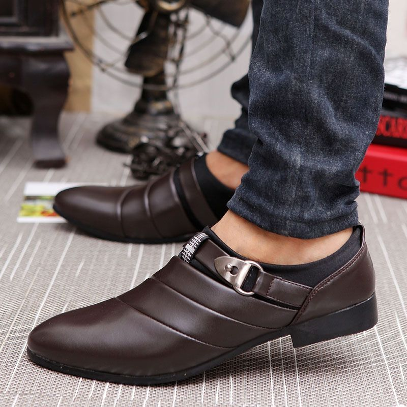 Casual SlipOn Buckle Men's Loafers is part of Formal shoes for men - Buy Casual SlipOn Buckle Men's Loafers From Shoespie com You will find many fashionable products from Men's Loafers collections
