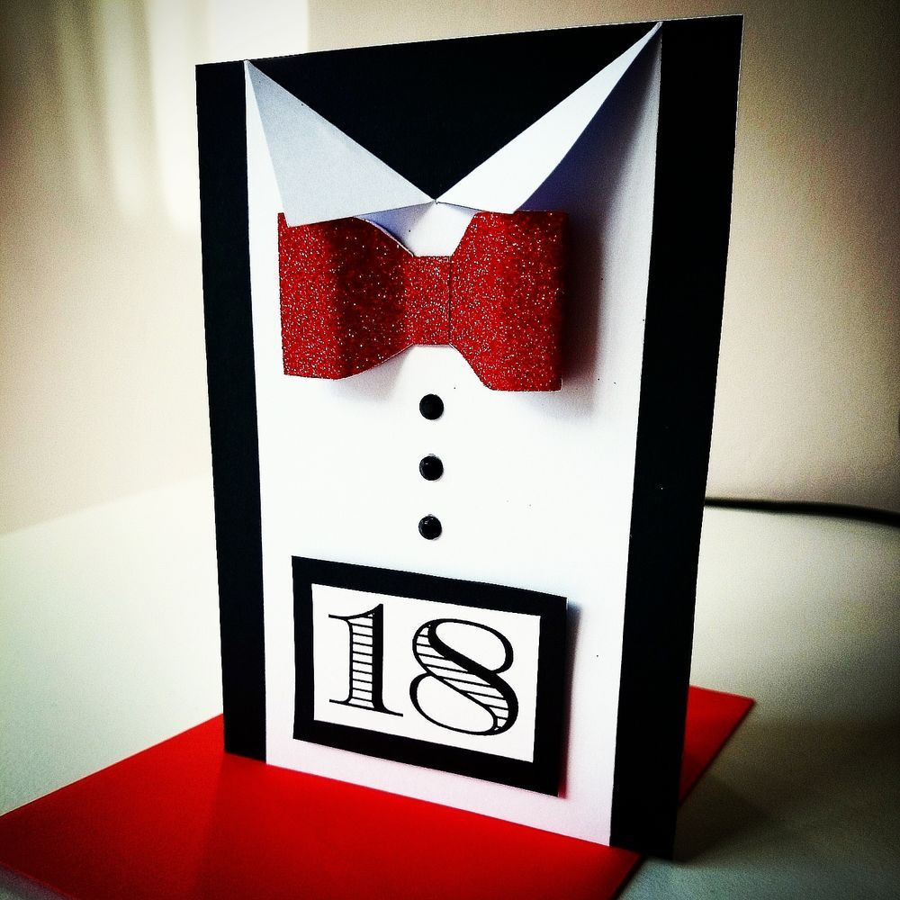 18th Birthday Card For Him, Handmade Birthday Greeting ...