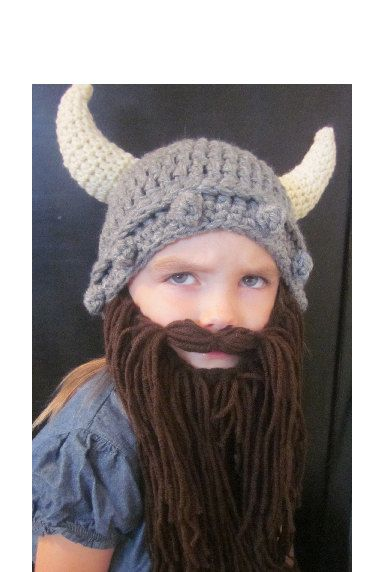 This little girl looks so much like my niece and she would totally wear  this hat! Hahaha! Love it!!! KIDS Viking Hat   Beard by HelmetHed on Etsy 9c8c659675