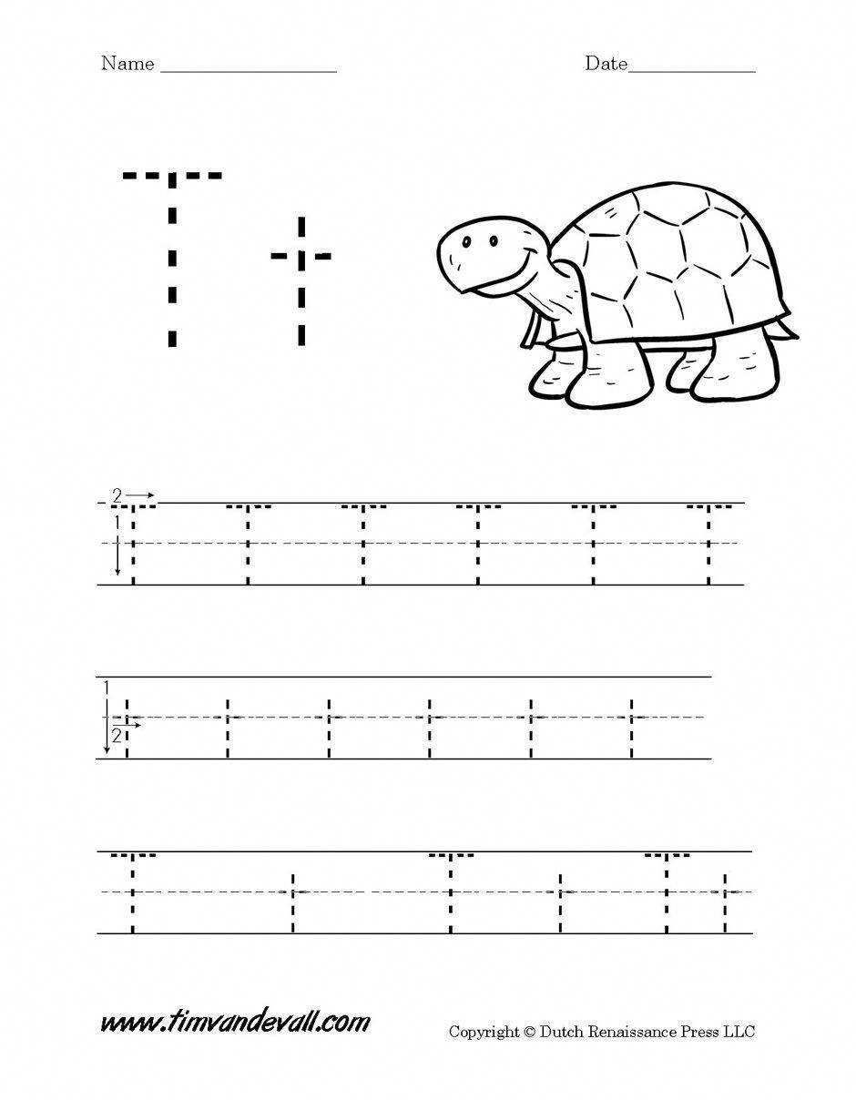 Letter T Worksheet Tim S Printables Handwritingworksheets Letter T Worksheets Printable Alphabet Worksheets Tracing Worksheets Preschool