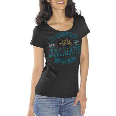 Jacksonville Jaguars Ladies First Down Crew T-Shirt - Black  68c9de2f7