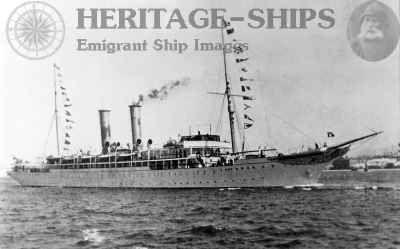 The first true cruise ship: The Prinzessin Victoria Luise, Hamburg America Line steamship.