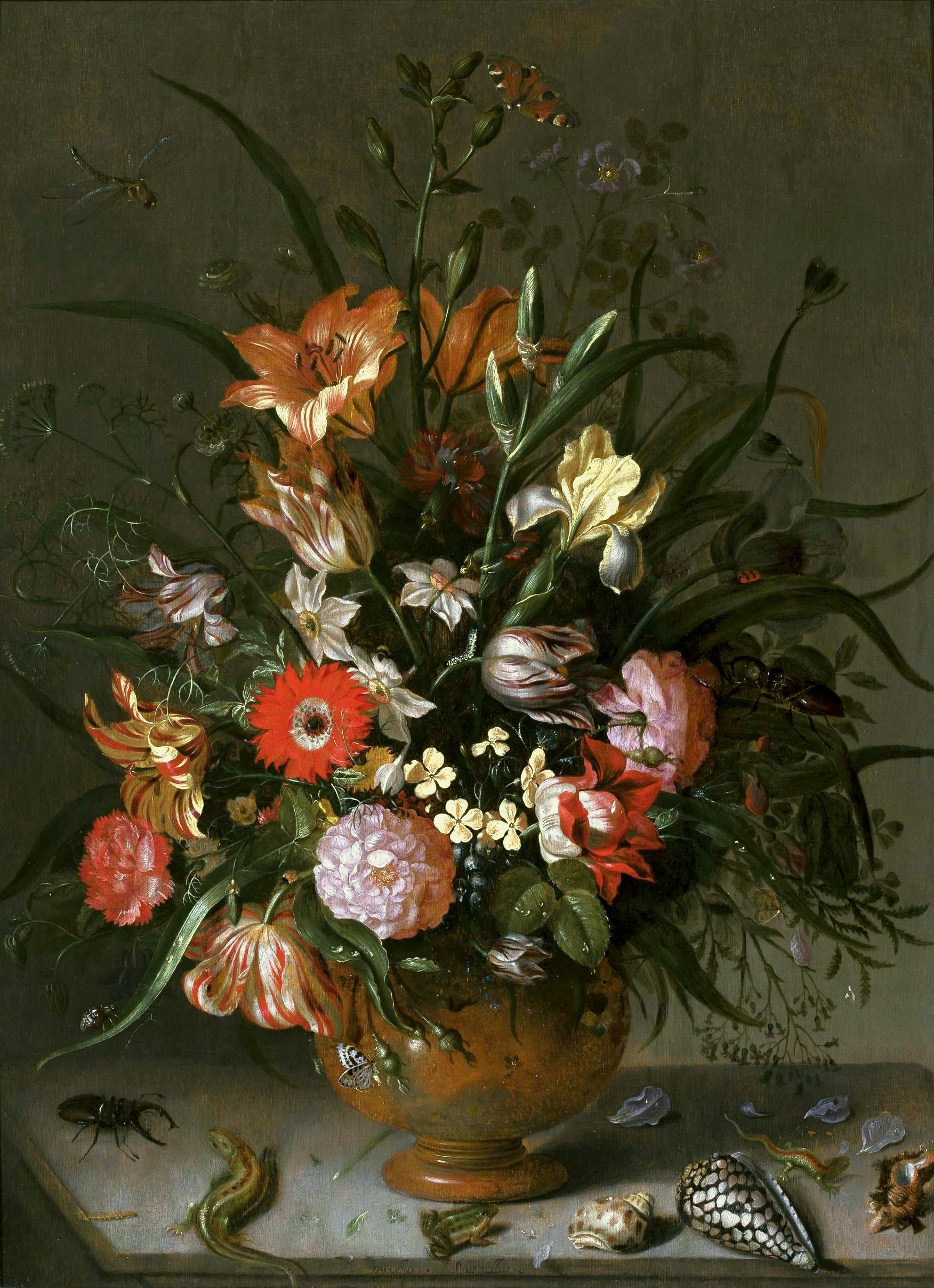 Flowers in a vase by Jacob Marrel, 1634 (PD-art/old), Muzeum Narodowe w Warszawie (MNW