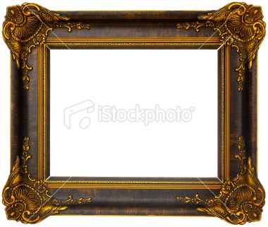 Merveilleux Antique Wooden Picture Frames | Antique Wooden Frame Royalty Free Stock  Photo