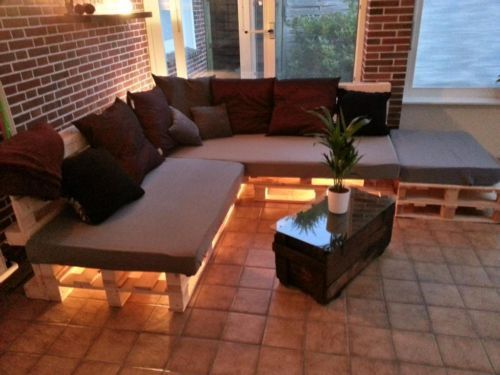 Lounge Sofa Chill Out Area Paletten Sofa Inkl Sitzauflagen