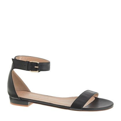 J.Crew - Maya ankle-strap sandals - J.Crew - Maya Ankle-strap Sandals Lovely Accessories Pinterest