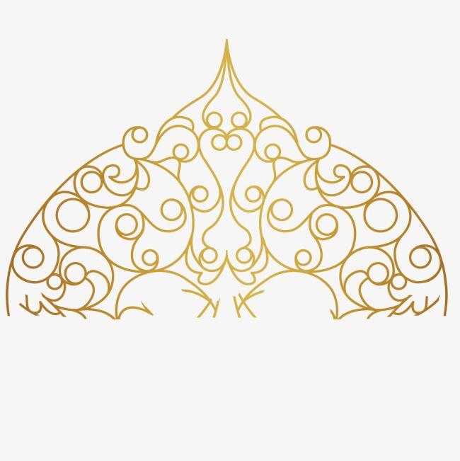 Decorative Gold Base Vector Pattern Gold Png Transparent Clipart Image And Psd File For Free Download Swirl Design Pattern Mandala Design Swirl Design