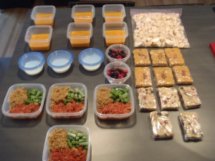 meals prepared for the week idea