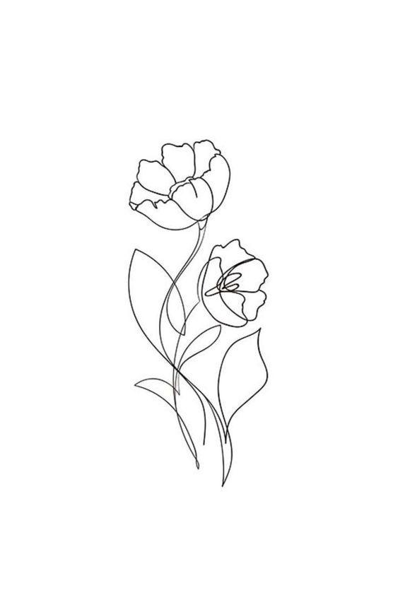Schönheit #Tattoos Blumentattoo #diytattoos – diy tattoos