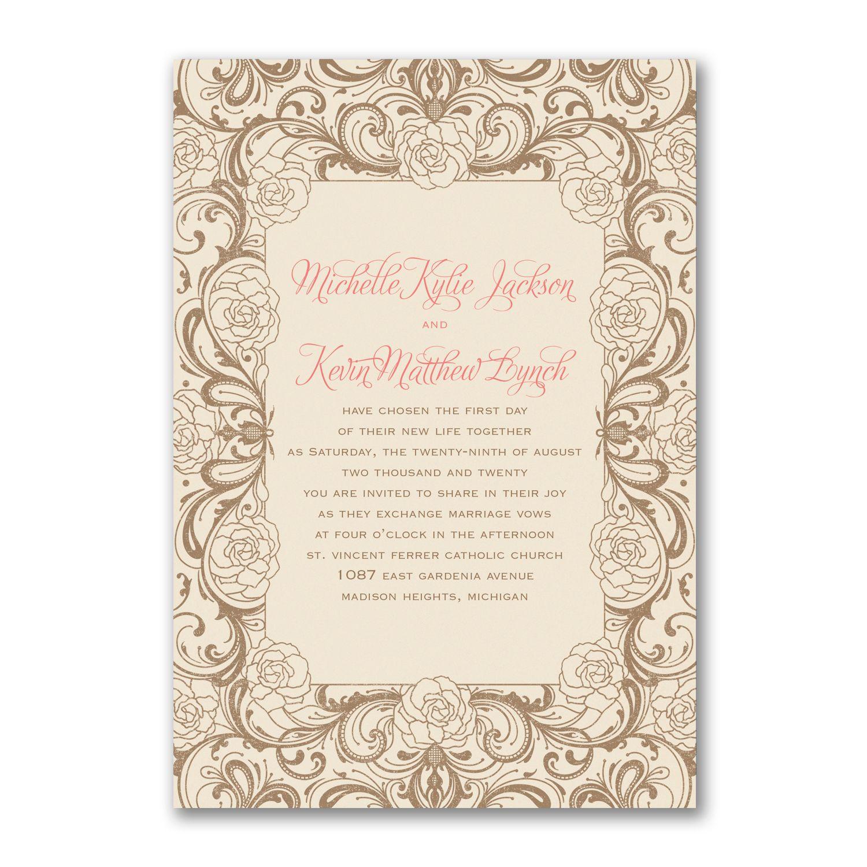 Timeless Flourish - Invitation | 40% OFF Carlson Craft Wedding ...